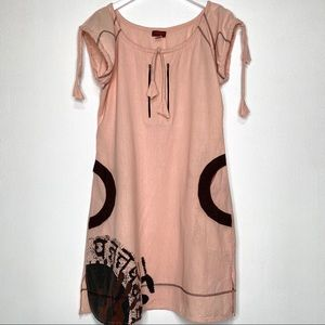 WINDHORSE Coral Pink Shift Dress Size Large
